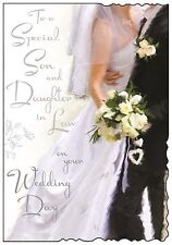 Son And Daughter In Law Wedding Day Card ~ Luxury Card ~ Verse ~ Made In UK