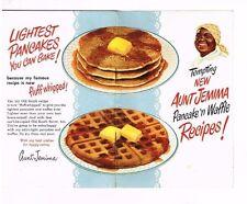Aunt Jemima Recipe Booklet Pancakes Waffles Legend Black Americana Vintage