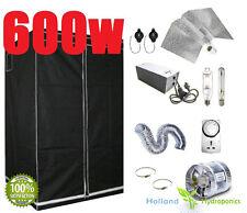 600w Hydroponic  Grow Lights Bat wing HPS MH Kit Fan Ventilation Grow Tent setup