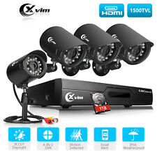 XVIM 8CH 1080N HDMI DVR 720p Outdoor Security Camera System with Hard Drive 1TB