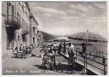 0295 SAVONA LAIGUEGLIA - TERRAZZA ALBERGO Cartolina FOTOGRAFICA viaggiata 1953
