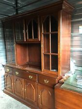 Hand Crafted Solid cherry China cabinet , excellent condition, 6 ft. Wide