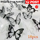 18pcs 3d Diy Wall Decal Stickers Removable Butterfly Home Room Art Decorations A