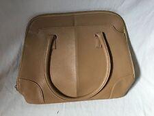 Ladies Tan Leatherlike Laptop Bag / Handbag