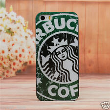 "COVER PER IPHONE 6 4,7"" IN PLASTICA RIGIDA DESIGN STARBUCKS CON SFONDO VERDE"