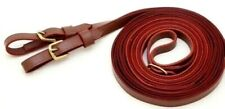 Tough-1 11' Leather Harness Driving Reins Horse Tack Equine