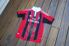 Milan AC Youth Large Gold Emblem Jersey by Adidas Clima Cool