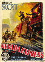 Carson City Randolph Scott western movie poster #2