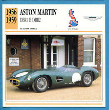 SCHEDA TECNICA AUTO DA COLLEZIONE - ASTON MARTIN DBR1 E DBR2 1956-1959