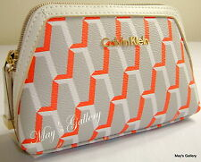 Calvin Klein Wallet Cosmetic Make up Jewel Hand bag Case Purse Coin  Case  CK