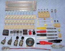 $25 Bag of LEDs Switches Banana Plugs Jacks 7805 7812 LM317 LM556 Piezo Alarm