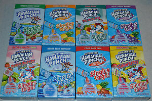 Sugar Free Hawaiian Punch Singles To Go! 8 Various Flavors  Water Enhancers OTG