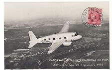 1946 France Cannes Film Festival Air Rally postcard Aviation Cover