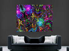 TRIPPY ART COLOURS PHYCHEDELIC IMAGE HUGE  LARGE PICTURE POSTER GIANT
