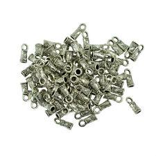 100PCS Tibetan Silver Pendants End Cap Cord Connector Jewelry Making DIY