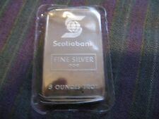 Rare 5 oz Scotia Bank Johnson  Matthey Silver Bar - Serial 002142 -  Sealed