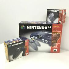 Nintendo 64 Console in Original Packaging w/ Extra Controller & Rumble Pack #565