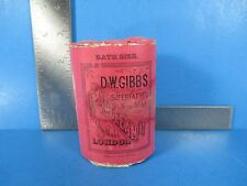 Vintage D&W Gibbs Superfatted Soap Tablet Cold Cream Made In Great Britan VS4 B2