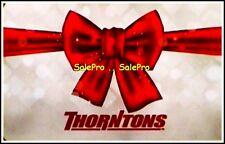 THORNTONS CHRISTMAS BOW ON SNOWFLAKE SEASON GREETINGS RARE COLLECTIBLE GIFT CARD
