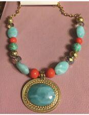 Multicolor gold tone bead chain