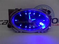 FORD MONDEO MK3 01-07 BLACK & CHROME BLUE LED CLOCK / BLUE ALARM + FREE UK POST