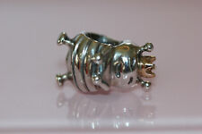 AUTHENTIC NIB PANDORA QUEEN BEE CHARM RETIRED 14K GOLD STER SILV 790227 POUCH