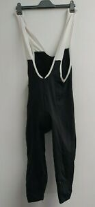 Men's Cycling Bib Tights Unbranded Large Black and White with Zip Winter Cycling