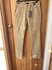 River Island Beige Cotton Chino Trousers 34 32 Slim Dylan
