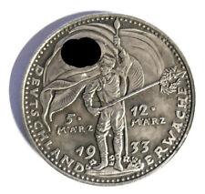 Piece Hitler 1933 1RM Reichsmark Coin Deutschland Erwache ww2 German