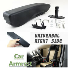 Universal Car Truck Minivan Adjustable Armrest Cover Right Side Black PU Leather