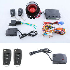 Car Anti-Theft Device Alarm System with Flip Key Remote Control Security Alert