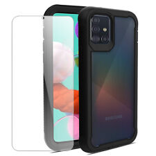 For Samsung Galaxy A51/A71/A70/A70S Shockproof Phone Case Cover+Tempered Glass