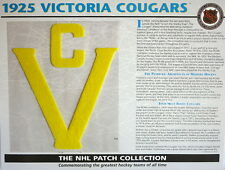 Willabee & Ward ~ Nhl Throwback Hockey Patch & Info Card ~ 1925 Victoria Cougars
