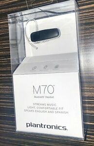 Plantronics M70 Wireless Bluetooth Headset Black NEW