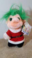 "Trolio Trolls 9"" Tall Plush Christmas Santa Claus Troll Doll"