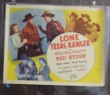 Lone Texas Ranger Original Single Sided Movie Poster A 22x28 Wild Bill Elliott