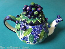 Jeanette McCall  BLUEBERRY TEAPOT -- ICING ON THE CAKE - RETIRED NIB[*4]