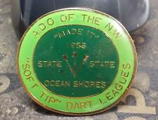 A.D.O. of the N.W. 1986 State Soft Tip Dart Leagues Ocean lapel pin pre-owned