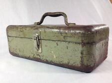 Vintage My Buddy Tackle Box, Single Tray, Flat Top, Steel, Grate OriginPatina!!!