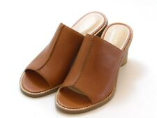 Clarks Somerset TAN  Leather Glacier Chic Mules Sandals Size 6