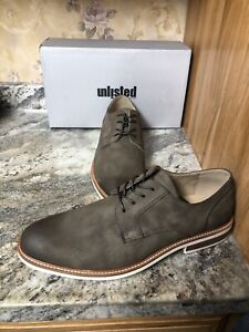 New Kenneth Cole Jimmie Lace Up Plain Toe Derby Men's Size 13 Grey