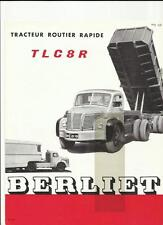 BERLIET TLC 8R LORRY TRUCK SALES BROCHURE 1957