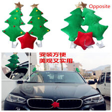 Car decoration funny present holiday gift christmas tree red five pointed star