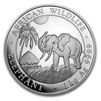 2017 Somalia 1 kilo Silver Elephant - SKU #102913