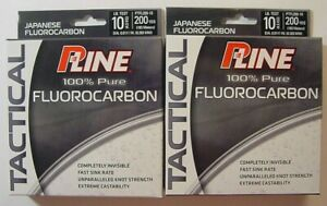 P-Line Tactical Fluorocarbon Fishing Line-TWO NEW PACKS-10 lb Test-200 yds each