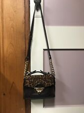 Michael Kors Small Leopard Print Calf Hair Leather Handbag W/ Dust Bag Stunning!