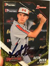 SETH BEER 2014 Bowman RC Under Armour All-American signed card ASTROS prospect