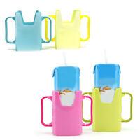 KQ_ Toddler Drink Adjustable Baby Box Child Juice Pouch Milk Handles Cup Holder