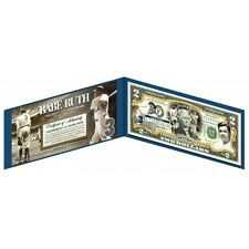 "$2 COLORIZED-""BABE RUTH NEWYORK YANKEES""NEW ITEM COLLECTIBLE GIFT 2 DOLLAR BILLS"