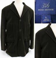 Brooks Brothers 346 Men's $350 Sport Coat Size XL Olive Green Corduroy Cotton